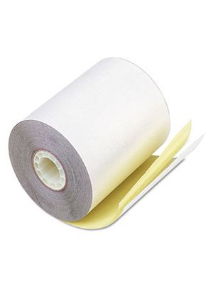 3-1/4 x 3 2-ply white/canary paper roll