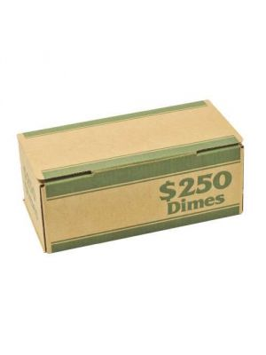 Die-Cut Coin Boxes, $250 Dimes