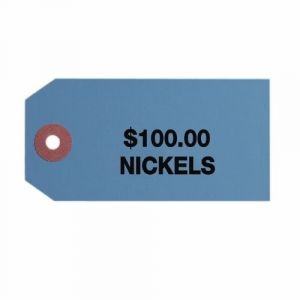 #3 Small ID Tags, $100 Nickels