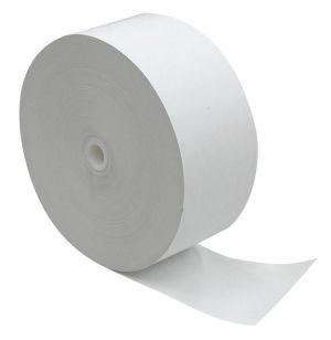 "NCR Receipt roll, 3.15"" x 9"" (1,960') 1-ply black image thermal no sensemarks"