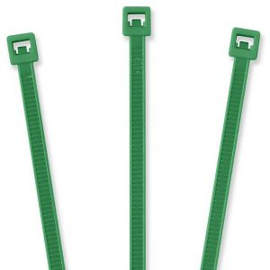 "TieLok 8"" Nylon Cable Tie, Pack,Green"
