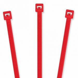 """TieLok 8"""" Nylon Cable Tie, Pack, Red"""