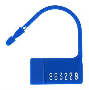 TransLok Mini Padlock Seal, Blue, Numbered, 1000/Carton
