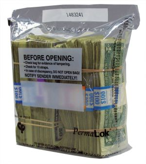 1000 Note (10 strap) Currency Bag, Clear