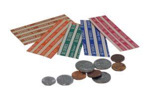 Flat Tubular Coin Wrappers, Half Sized