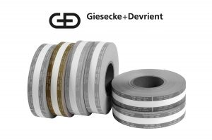 Giesecke & Devrient (G&D) Currency Strapping Rolls, $5,000 Fifties