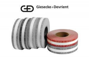 Giesecke & Devrient (G&D) Currency Strapping Rolls, $500 Fives