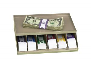 Coin Wrap/Bill Strap Rack, Single level